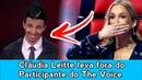 CLAUDIA LEITTE LEVA FORA DO PARTICIPANTE DO THE VOICE - (VÍDEO)