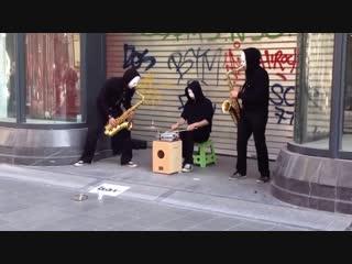 Street musicians / уличные музыканты blow trio