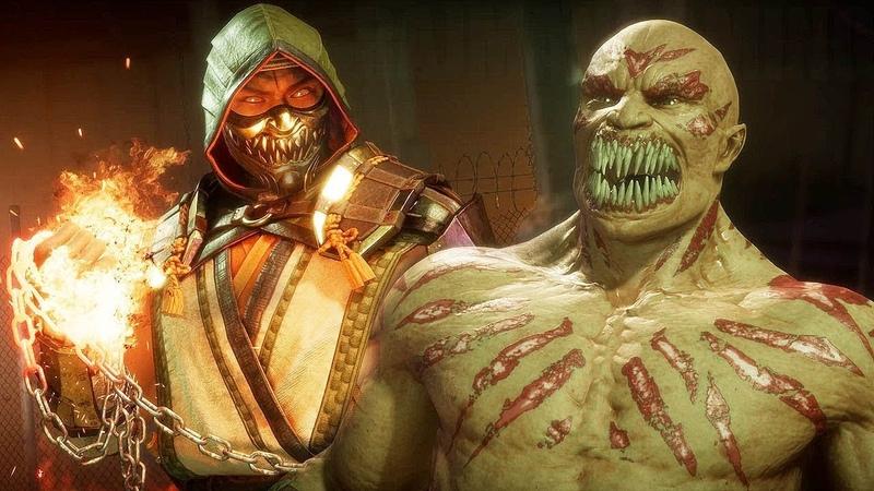 Mortal Kombat 11 Scorpion vs Baraka MK11 Gameplay PS4 Pro