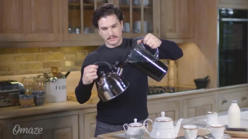 Кит Харингтон (Джон Сноу) ничего не знает о приготовлении вкусного чая