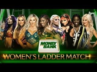 Sasha banks vs natalya vs charlotte flair vs ember moon vs alexa bliss vs becky lynch vs naomi vs lana - money in the bank 2018