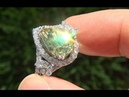 GIA Certified 7.20 ct Chrysoberyl Diamond Vintage 18k White Gold Ring - A141469