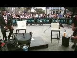 Пчела помешала интервью 50 Cent на extra tv show