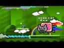 Geometry Dash (Nyan Cats Revenge By Minesap) VERY COLORFUL BOSS BATTLE!