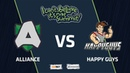 Alliance vs Happy Guys, Game 1, Group Stage, I Can't Believe It's Not Summit