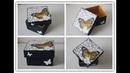 Caja decorada con jacarelado con cola blanca y decoupage Manualidades DIY