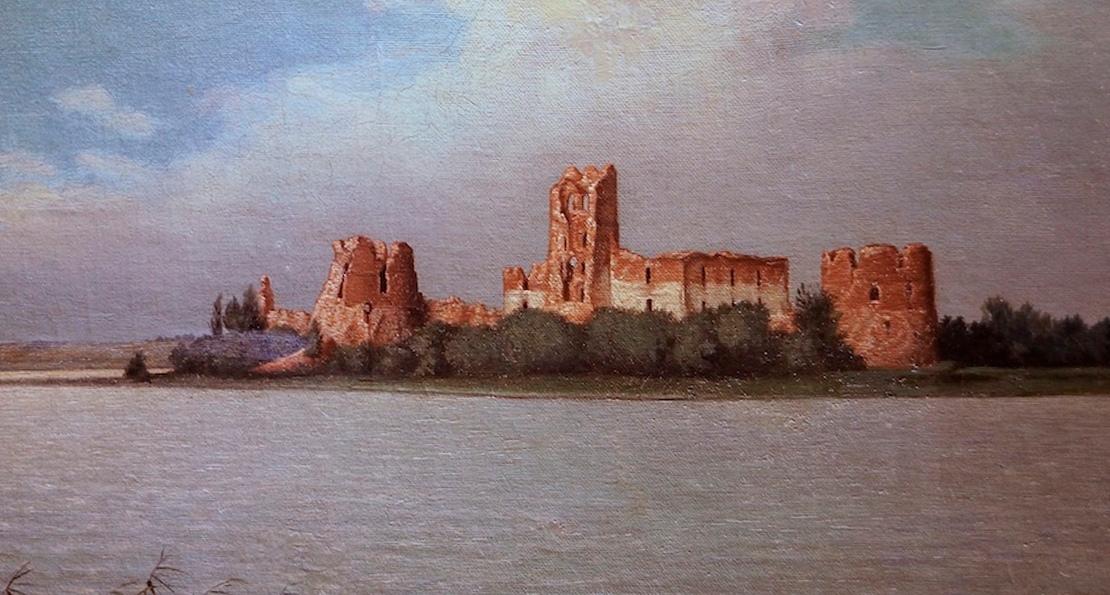 Замок в Троках -- руины