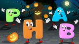 Alphabet songs for Children Fun Halloween Phonics song ABC Song for kids Learn Colours, shapes
