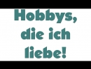Hobbys Deutsch lernen mit Musik Wortschatz Learn German with music words
