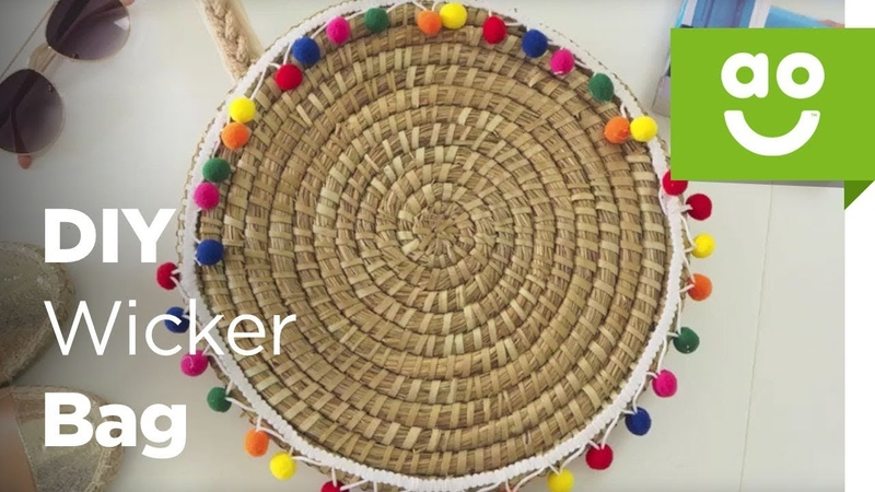 DIY Wicker Summer Beach Bag