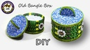 Best out of waste How to make storage box from old waste bangles DIY Art with Creativity 201