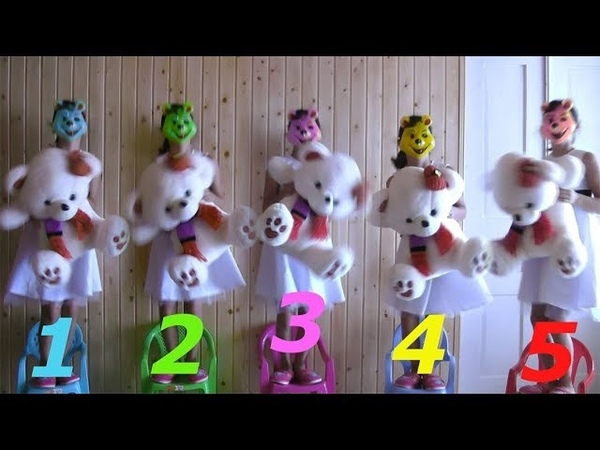 Five Little 🐻Teddy Bears🐻 Jumping On The bad For Learning colors and Count W/ More kids Activities