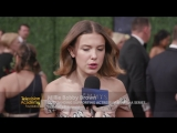 Nominee Millie Bobby Brown (Stranger Things) on the 2018 Primetime Emmys Red Car