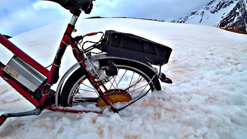 ✅Сорвался с горы 🚲 Жесткий тест Мотор Колес на Эльбрусе ⚡ Провалился электро велосипед