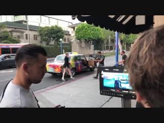 Закадровое видео со съемок клипа