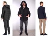 Утепленная куртка мужская черная , пиджак мужской темно-синий
