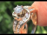 CERTIFIED SI2G Natural Diamond Engagement Anniversary 14k Yellow Gold Vintage Estate Ring - C735