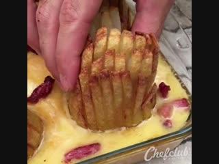 Вкусные цветы из картошки - Личный повар