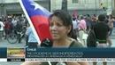 Chilenos salen a las calles para apoyar al pueblo y gob de Venezuela