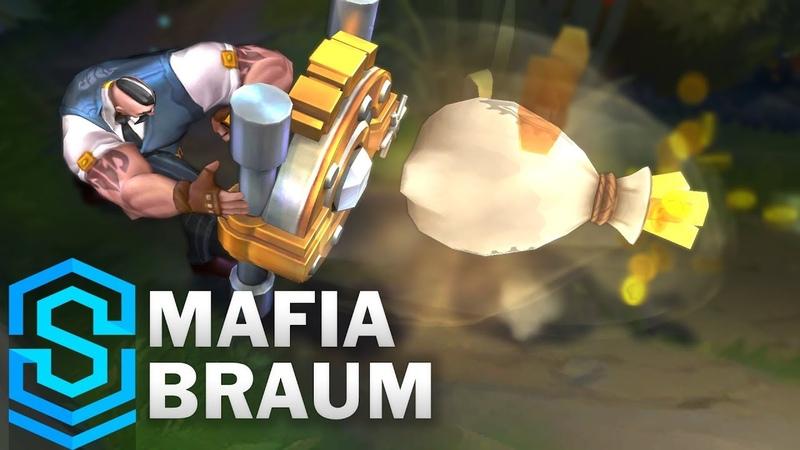 Mafia Braum Skin Spotlight Pre Release League of Legends