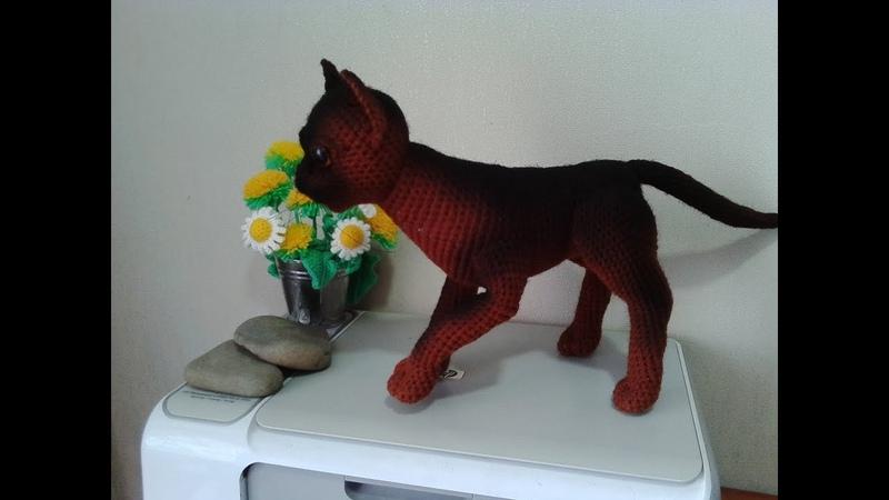 Кошка Бурма, ч.2. Cat Burmese, р.2. Amigurumi. Crochet. Амигуруми. Игрушки крючком.