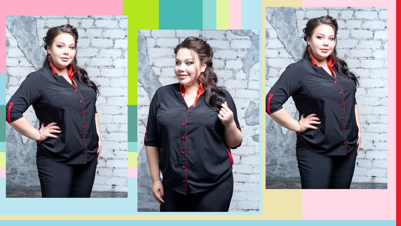 SIZE+ НОВИНКИ 29.03.19 Блуза большого размера Аромат  Ткань: супер софт