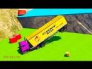 Мультик про Цветные Грузовики Автовоз Эвакуатор Трактор и Бульдозер Для Детей и Малышей