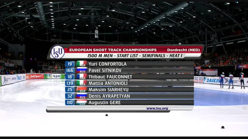 ISU European Short Track Championships 2019 - Dordrecht (NED)