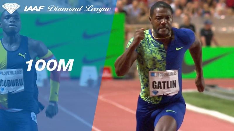 Justin Gatlin beats Noah Lyles over the 100 meters in Monaco - IAAF Diamond League 2019