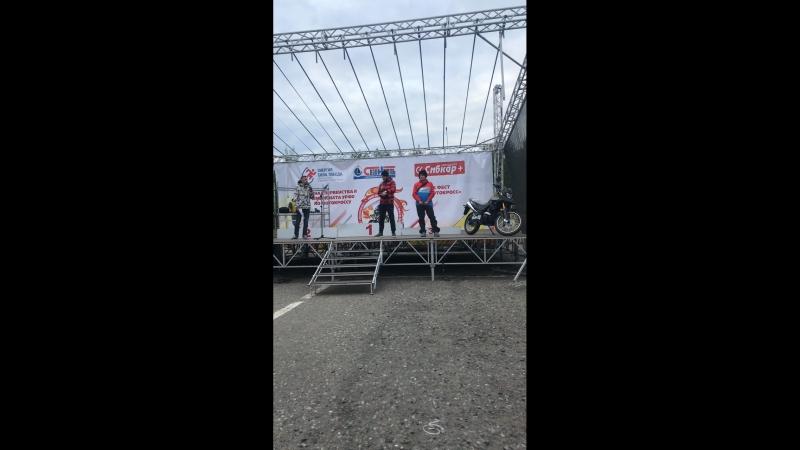 Награждение победителей в мотокроссе Мегион 05 08 2018