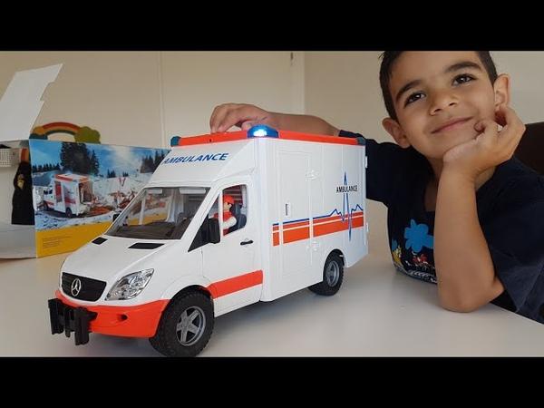 Bruder Mercedes Benz Sprinter Ambulance with Driver Unboxing