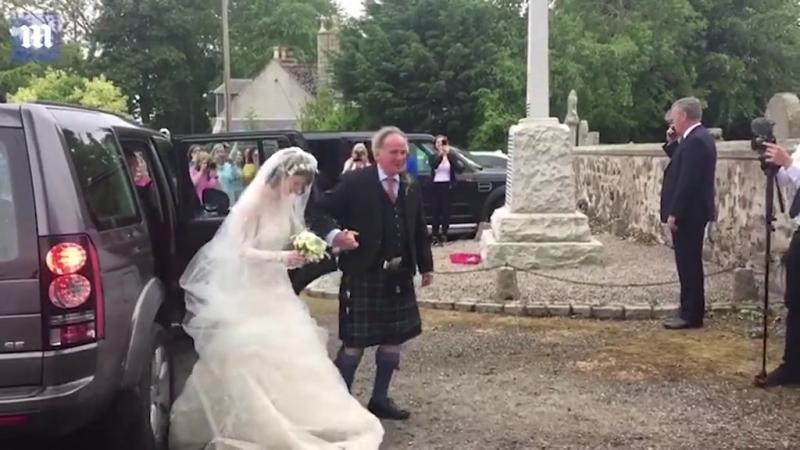 Rose Leslie arrives at her wedding to Kit Harington