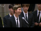 "[Rus Sub] [Рус Саб] BTS SPEECH at UNICEF: ""Youth 2030: The UN Youth Strategy"""