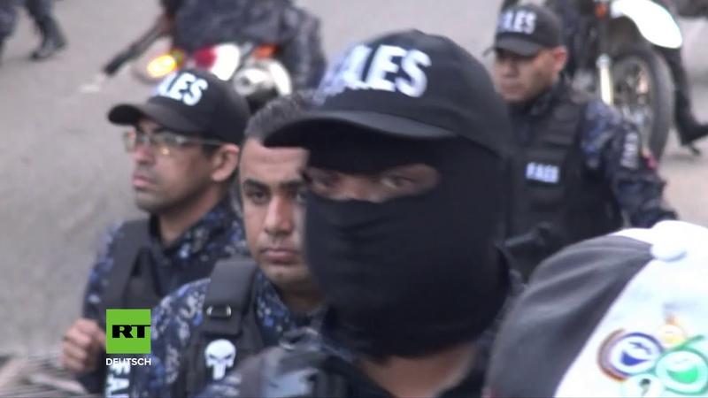 Venezuela Militärgardisten nach Waffenraub und Putsch-Aufruf verhaftet