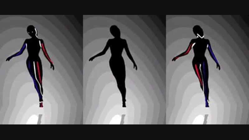 The middle dancer will spin clockwise or counterclockwise depending on if you look at the left or right one