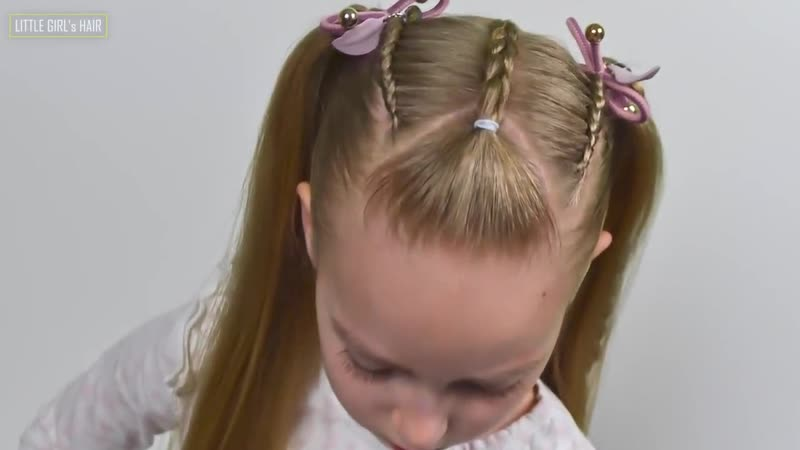 French and Dutch lace braids Ponytails (Quick and Easy hairstyle for Girls 74)