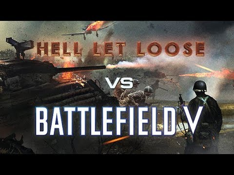 Battlefield 5 vs Hell Let Loose [Infantry, Tanks, Maps Max Graphics Gameplay Comparison]