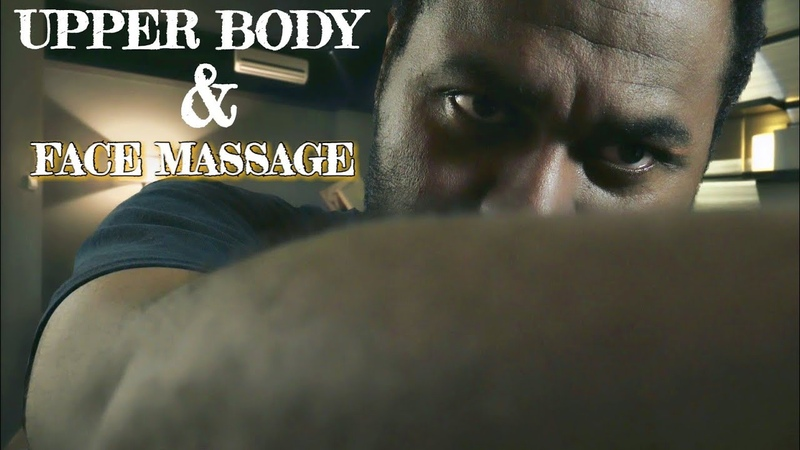 ASMR Upper Body Face Massage Roleplay Tension Relief