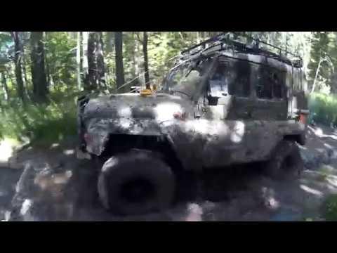 УАЗ 3151 469 на военных мостах и ФБел 160М осторожно маты
