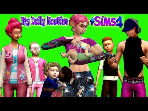 The Sims 4 Breed Out The Weird Challenge MY DAILY ROUTINE for 7 Kids Family