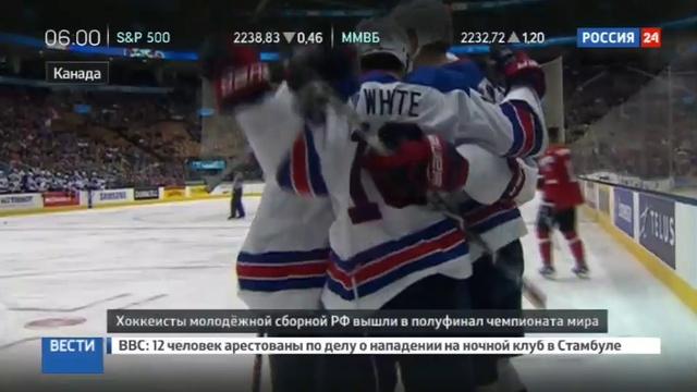 Новости на Россия 24 • Российская молодежка в полуфинале чемпионата мира по хоккею