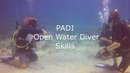 PADI Open Water diver - skills in confned water.
