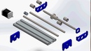 Solidworks Motion Study - Linear Actuator - Assembly Simulator