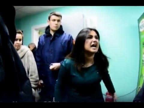 Кавказцы во главе с сумасшедшей бабой напали на проверяющих в Москве (2018)