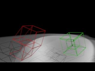 4D cube test (on Blender 3D)