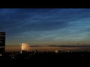 Noctilucent Clouds over Paris Fireworks