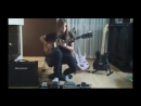 Best female guitarist shreds to Sweet Child O Mine Solo - Tina S