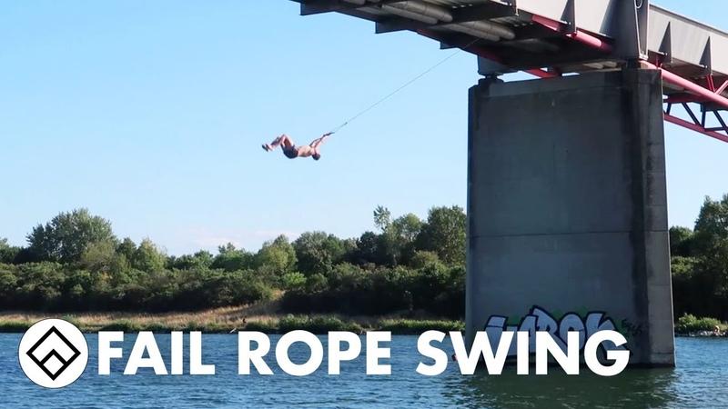 Triple Backflip Rope Swing Fail Farang Tour 2017