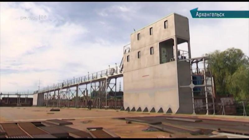 В Архангельск доставили уникальный плавучий судовой док