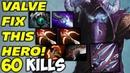 RIKI 60 KILLS OWNAGE Valve Fix this Hero Dota 2